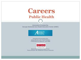 Careers  Public Health