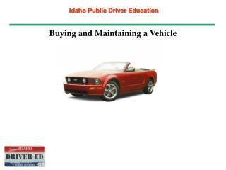 Idaho Public Driver Education