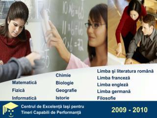 A n şcolar  2009 -20 10