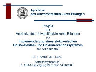 Apotheke  des Universit tsklinikums Erlangen