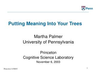 Putting Meaning Into Your Trees