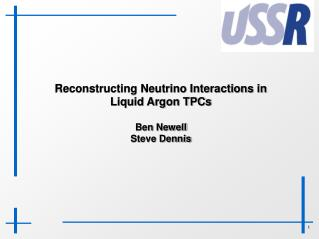 Reconstructing Neutrino Interactions in Liquid Argon TPCs Ben Newell  Steve Dennis