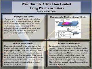 Wind Turbine Active Flow Control  Using Plasma Actuators By: Christopher Gusty