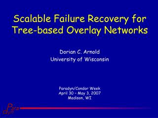 Scalable Failure Recovery for Tree-based Overlay Networks