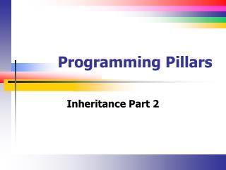 Programming Pillars