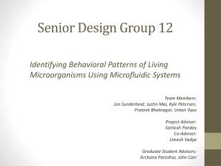 Senior Design Group 12