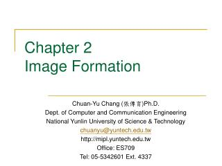 Chapter 2 Image Formation