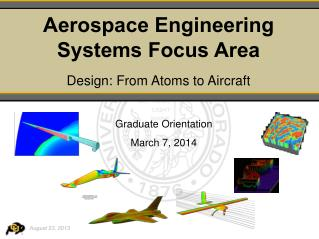 Aerospace Engineering Systems Focus Area Design: From Atoms to Aircraft