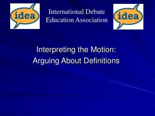 Interpreting the Motion: Arguing About Definitions