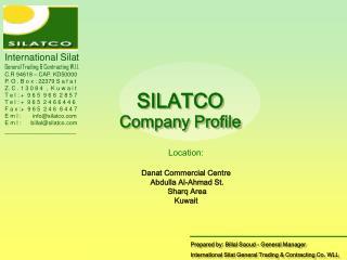 International Silat General Trading & Contracting W.l.l. C.R 94618 – CAP. KD50000