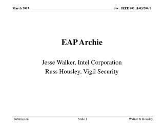 EAP Archie