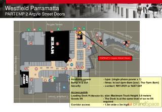 Westfield Parramatta PARTEMP 2 Argyle Street Doors