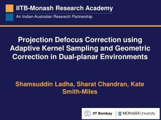 Shamsuddin Ladha, Sharat Chandran, Kate Smith-Miles