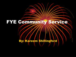 FYE Community Service