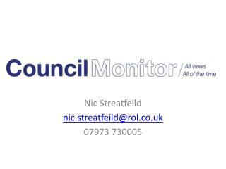 Nic Streatfeild nic.streatfeild@rol.co.uk 07973 730005