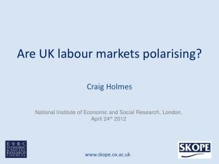Are UK labour markets polarising?