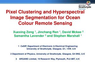 Pixel Clustering and Hyperspectral Image Segmentation for Ocean Colour Remote Sensing