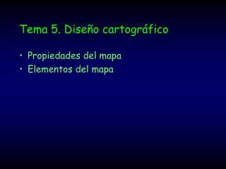 Tema 5. Diseño cartográfico