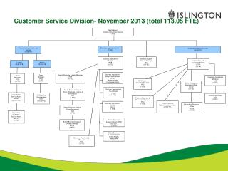 Customer Service Division- November 2013 (total 113.05 FTE)