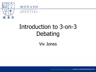 Introduction to 3-on-3 Debating