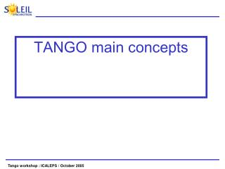 TANGO main concepts