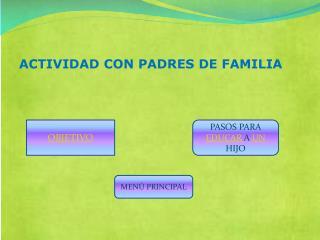 ACTIVIDAD CON PADRES DE FAMILIA