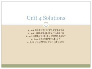 Unit 4 Solutions