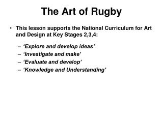 The Art of Rugby
