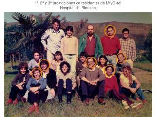 1ª, 2ª y 3ª promociones de residentes de MfyC del Hospital del Bidasoa