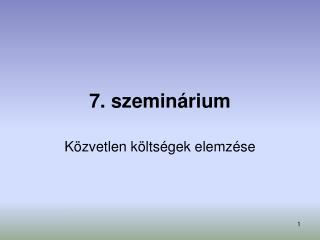7. szeminárium