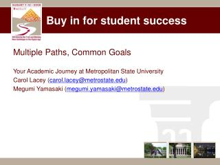 Buy in for student success