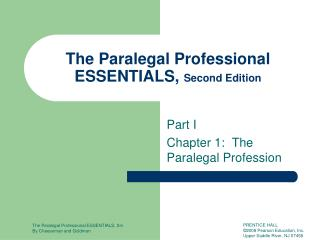 The Paralegal Professional ESSENTIALS,  Second Edition
