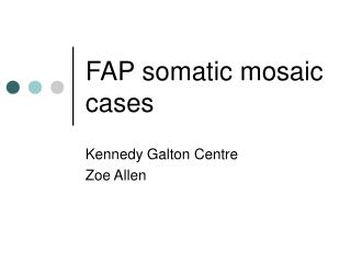 FAP somatic mosaic cases