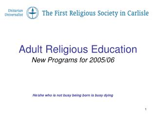 Adult Religious Education
