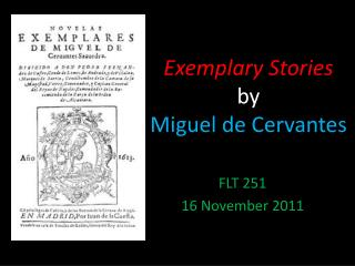 Exemplary Stories  by  Miguel  de Cervantes