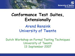 Conformance Test Suites, Extensionally