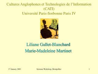 Cultures Anglophones et Technologies de l Information CATI Universit  Paris-Sorbonne Paris IV
