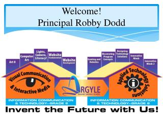 Welcome! Principal Robby Dodd