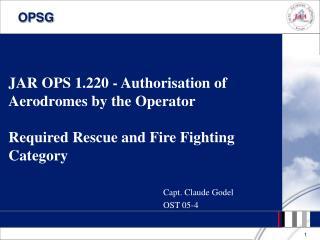 Capt. Claude Godel OST 05-4