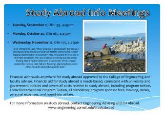 Study Abroad Info Meetings