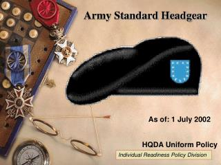 Army Standard Headgear