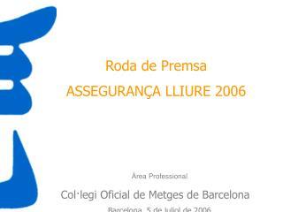 Roda de Premsa ASSEGURANÇA LLIURE 2006