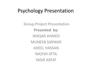Psychology Presentation