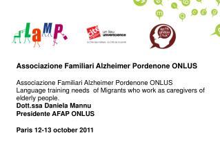 Associazione Familiari  Alzheimer Pordenone ONLUS
