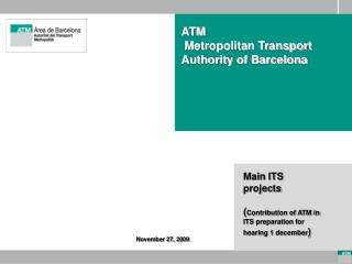 ATM   Metropolitan Transport Authority of Barcelona
