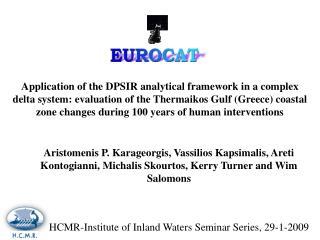 HCMR-Institute of Inland Waters Seminar Series, 29-1-2009
