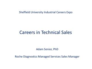 Sheffield University Industrial Careers Expo