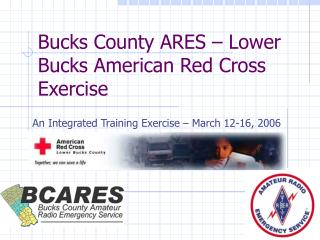 Bucks County ARES – Lower Bucks American Red Cross Exercise