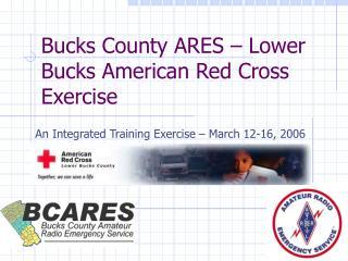 Bucks County ARES – Lower Bucks American Red Cross Exercise