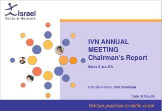 IVN ANNUAL MEETING  Chairman's Report  Santa Clara, CA Eric Benhamou, IVN Chairman